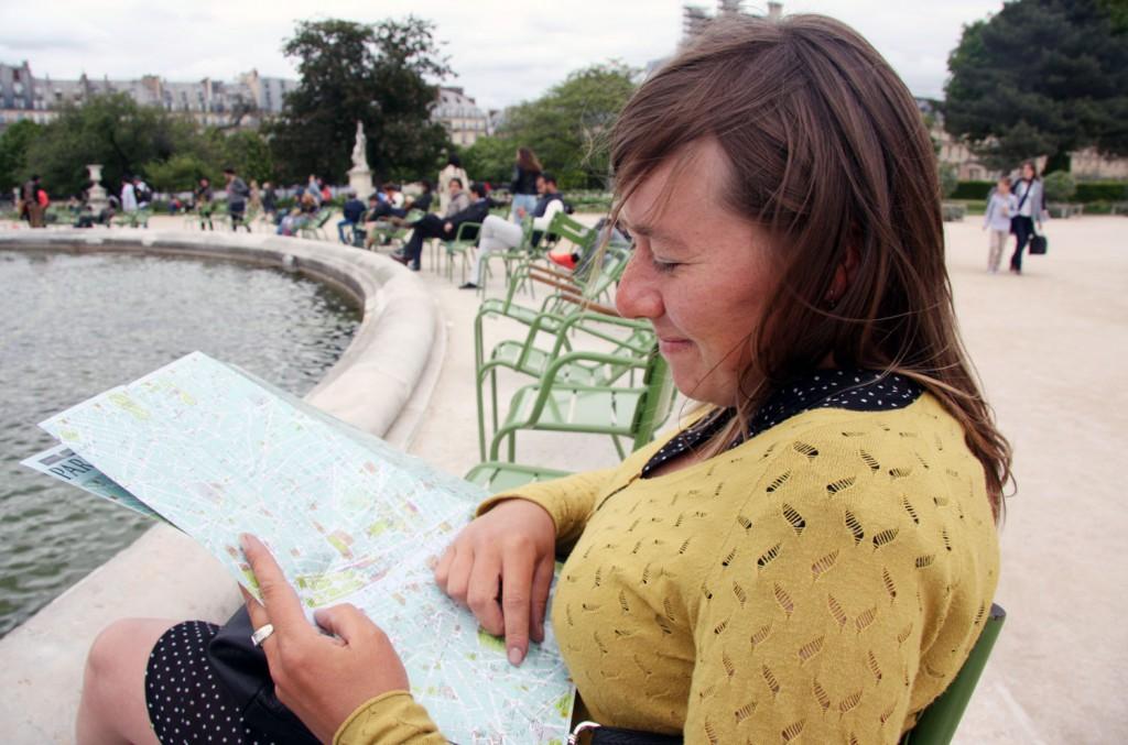 Kaartlezen @ Jardin des Tuileries